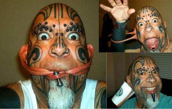 Tatouages et piercing extrêmes