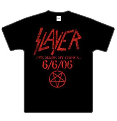 Texte sur textile! Le Slayer Day du groupe Slayer le 6/6/6 en 666 exemplaires!