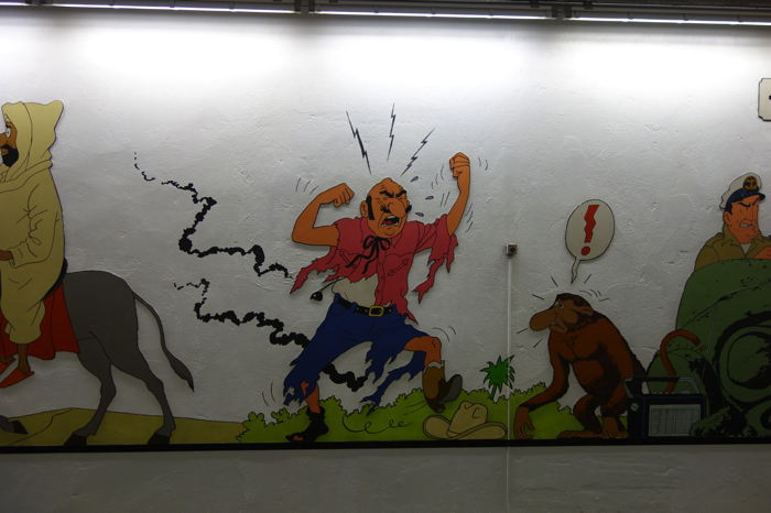 — Fresques Tintin — Station de métro Stockel — Bruxelles —
