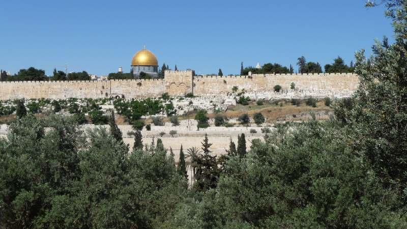 — Porte Dorée et Dôme du Rocher — Jérusalem —