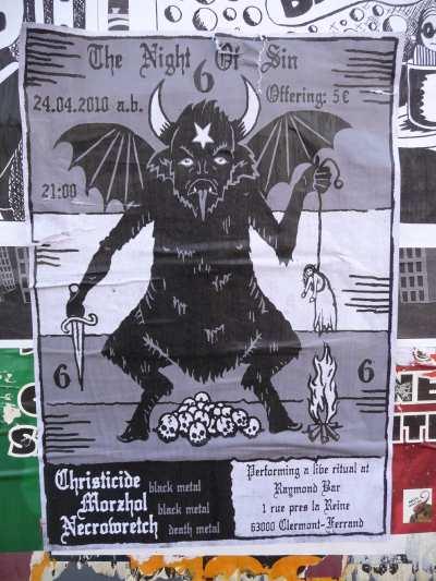 Affiche satanique