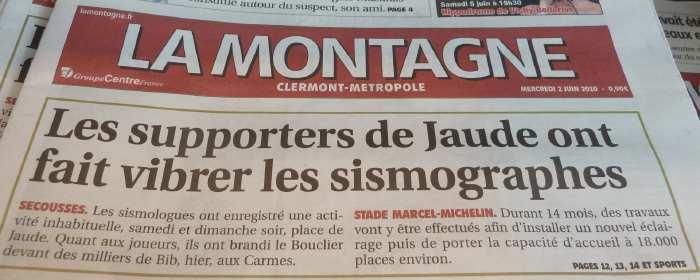 — Journal La Montagne du 2 Juin 2010 — Clermont-Fd —