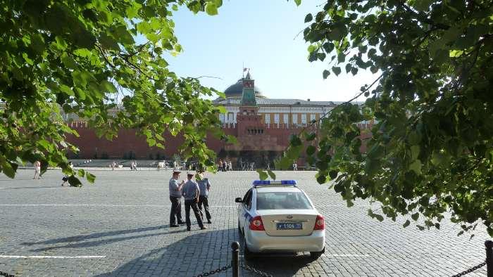 — Mausolée de Lénine vue depuis le magasin Gum — Place Rouge — Moscou —