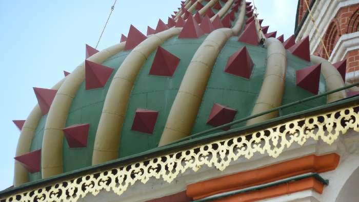 — Détail d'un bulbe de Saint Basile — Place Rouge — Moscou —