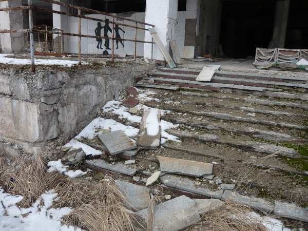 - Bâtiments dans la ville de Prypiat -