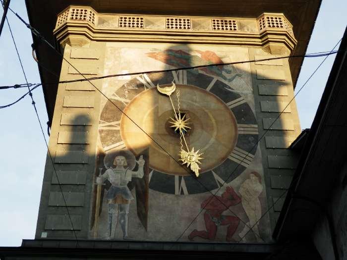 — Tour de l'horloge (zytglogge) vue depuis la Marktgasse - Berne —