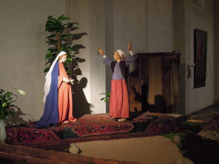 — Visite de Marie chez sa cousine Elisabeth dans une église - Cologne —