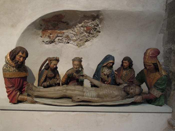 — Mise au tombeau vue dans une église - Cologne —