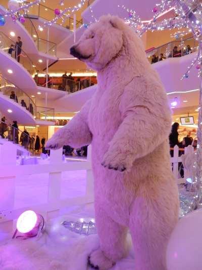 Ours blanc animé - Centre commercial La Pardieu - Lyon
