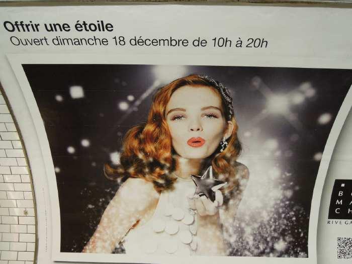 — Affiche publicitaire dans le métro - Paris —