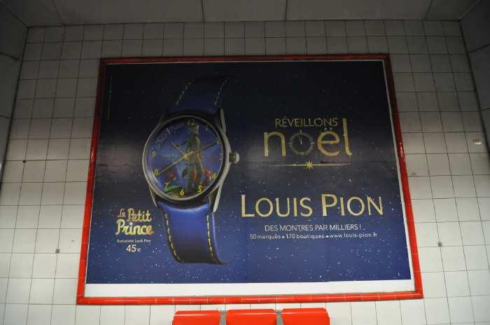"""— Affiche publicitaire """"Le petit Prince"""" dans le métro - Paris —"""