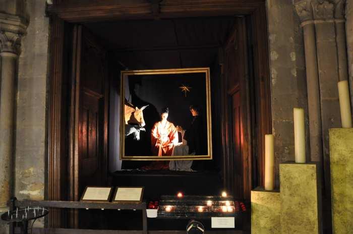 — Crèche tableau dans l'église St Jacques - Paris —