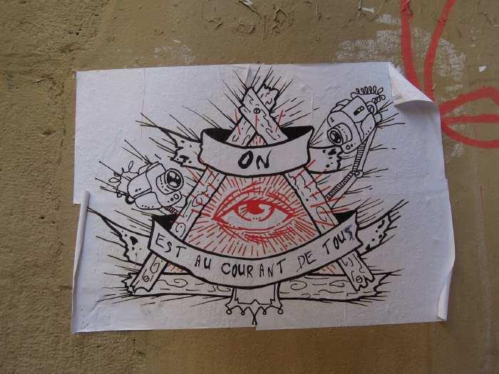 — Affichette près du centre Beaubourg - Paris —