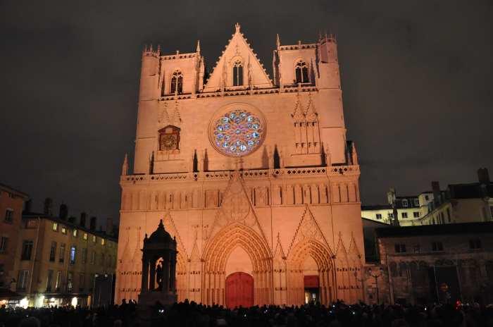 — Cathédrale St Jean - Fête des Lumières - Lyon —