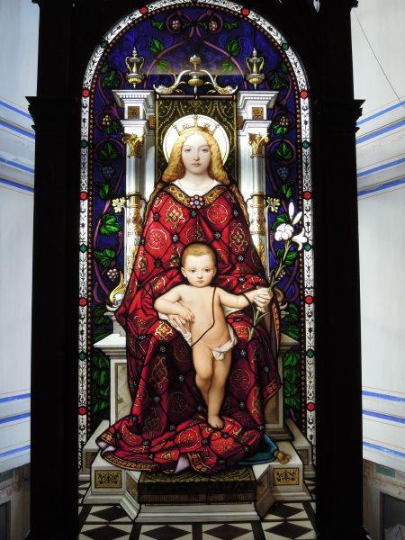 """— Vitrail """"Vierge à l'enfant"""" au Musée du Vatican - Rome —"""