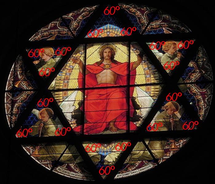 """— Rosace de la cathédrale """"Christ en majesté - Bâle/Basel —"""