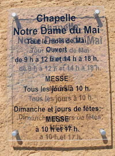 — Chapelle Notre Dame du Mai — Commune de Six-Fours (Var) —