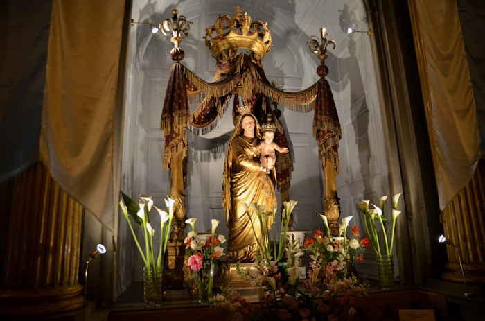 — Vierge couronnée à l'enfant — Cathédrale Notre Dame de Seds — Toulon (Var) —