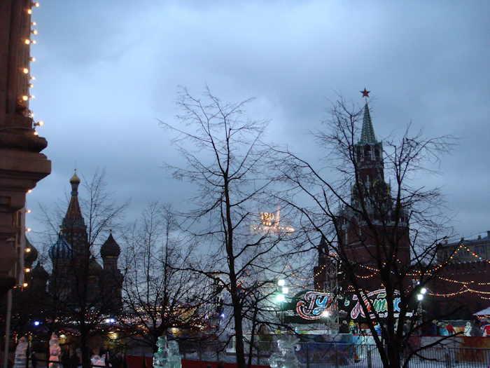 Entre St Basile et la tour Spaskaïa