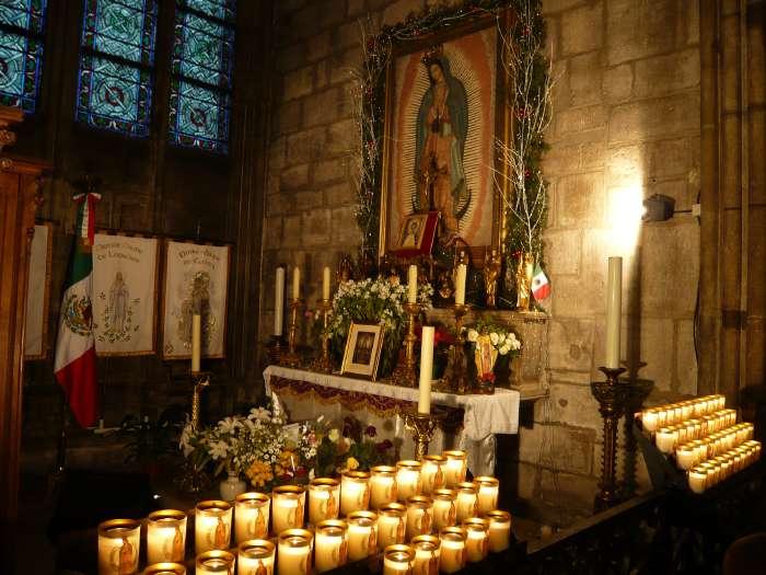 """Peinture """"Vierge de Guadalupe de Mexico"""" — Notre Dame de Paris"""