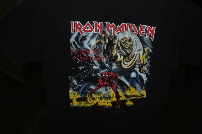 T-shirt Iron Maiden — Foire Expo: Rock Story — Clermont-Fd/Cournon