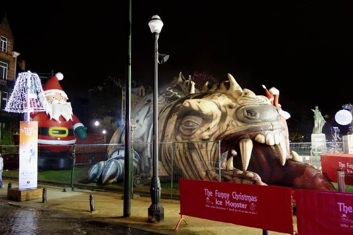 — Ice Monster — Marché de Noël — Place des poissons — Bruxelles —
