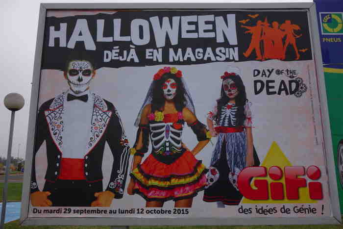 """— Day of the Dead — Le Jour des morts —   — Affiche enseigne Foirfouille """"fête"""" d'Halloween —"""