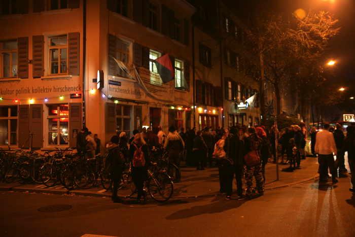 Point de ralliement de la Zombie Walk — Bâle/Basel