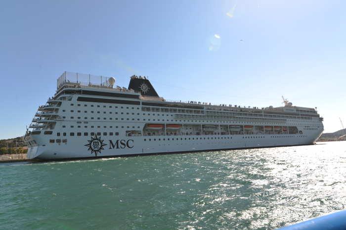 """Le """"MSC Armonia"""" vu depuis la mer"""