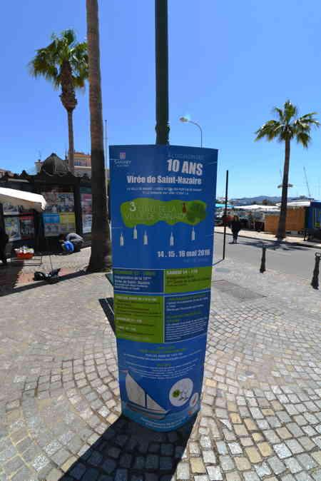 """Affiche """"Virée de St Nazaire"""" sur les quais du port — Sanary/sur/mer"""