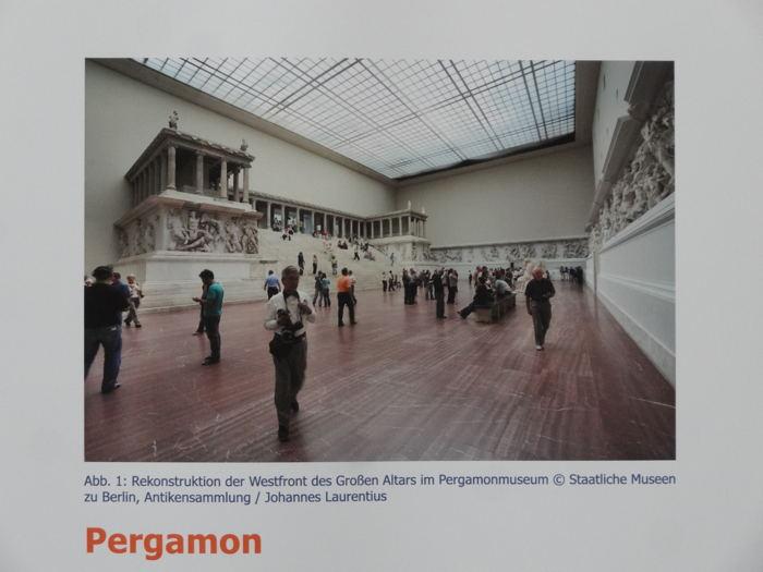 — Information restauration temple de Zeus - Musée Pergame à Berlin —