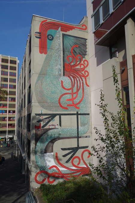 — Basilic en peinture murale — Bâle/Basel —