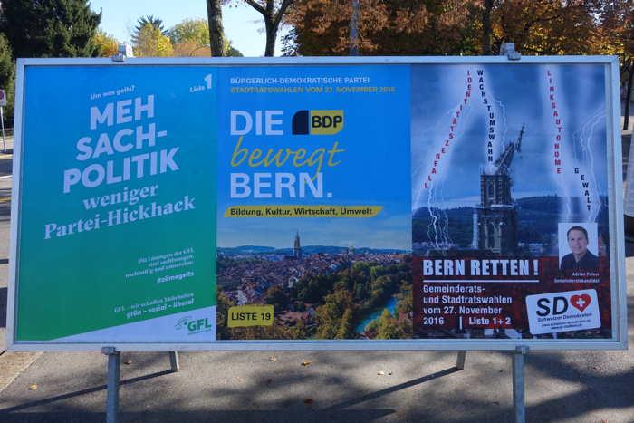 — Affichage électoral — Bern/Berne —