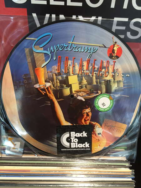 "Vinyle ""Breakfast in America"" par le groupe Supertramp"