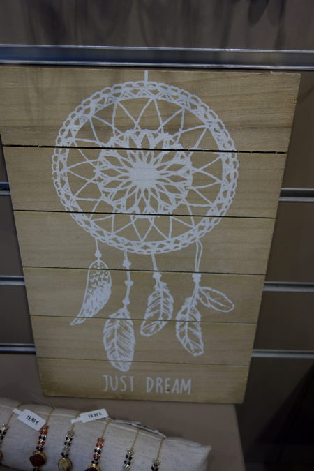 """""""rêver suffit""""  — """"Dream-catcher"""" peint sur bois - Saint-Jean-de-Luz —"""