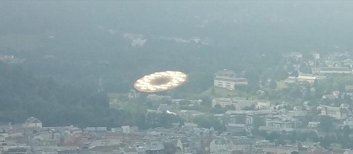 Détail de la photo prise depuis le funiculaire du Pic-du-Jer — Lourdes