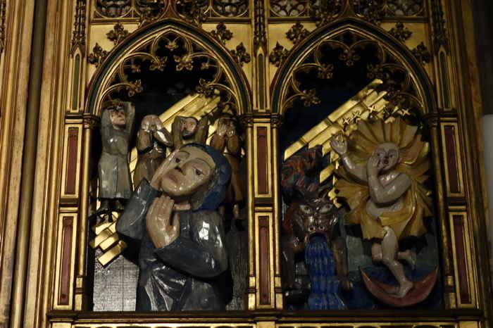 """— Retable """"La Vie de Marie"""" — Basilique des apôtres — Cologne —"""