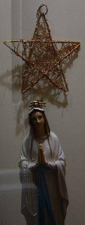 """Statue de la """"Vierge"""" et """"etoile"""""""