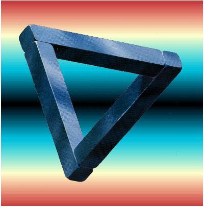 triangle équilatéral en trompe l'œil
