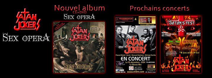 """Albums et concerts du groupe """"Satan Jokers"""""""