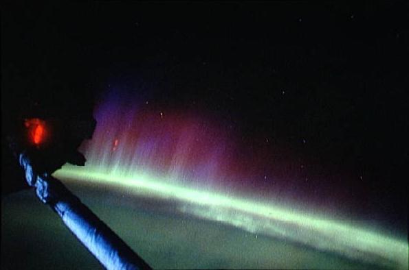 aurore boréale vue du ciel