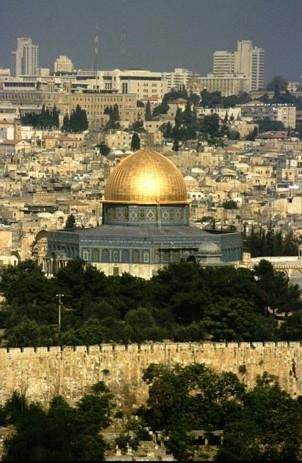Jérusalem et dome du rocher