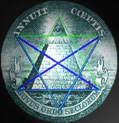 Pentagramme sur pyramide