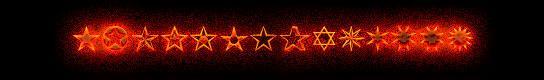 étoiles typographiques