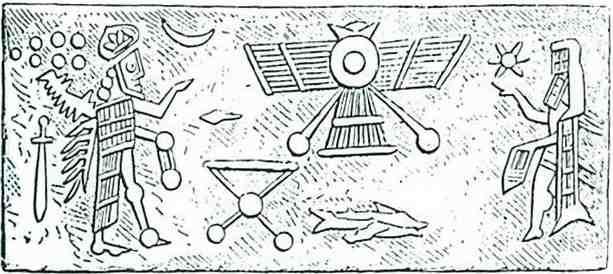 Sceau cylindrique Sumérien