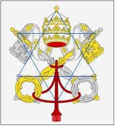Blason du vatican et étoile de David