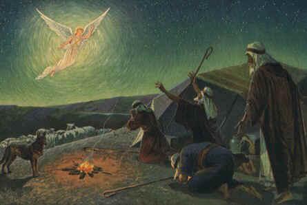 naissance du Sauveur annoncée aux bergers