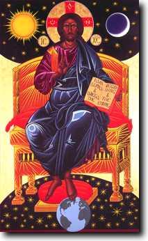 Jésus-Christ sur son trône