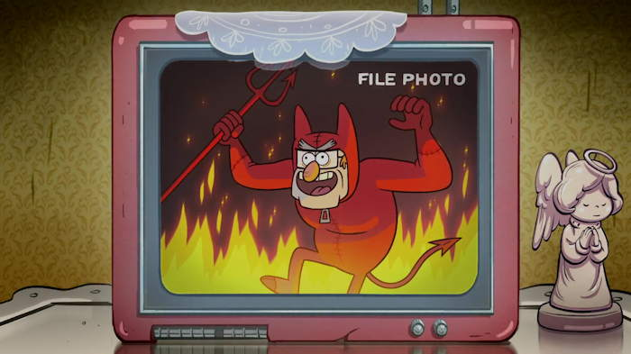 "Photo de Stan/Satan  Capture d'écran: série ""Gravity Falls"" sur Disney channel 411"