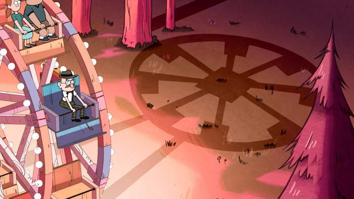 "Grande roue  Capture d'écran: série ""Gravity Falls"" sur Disney channel 411"